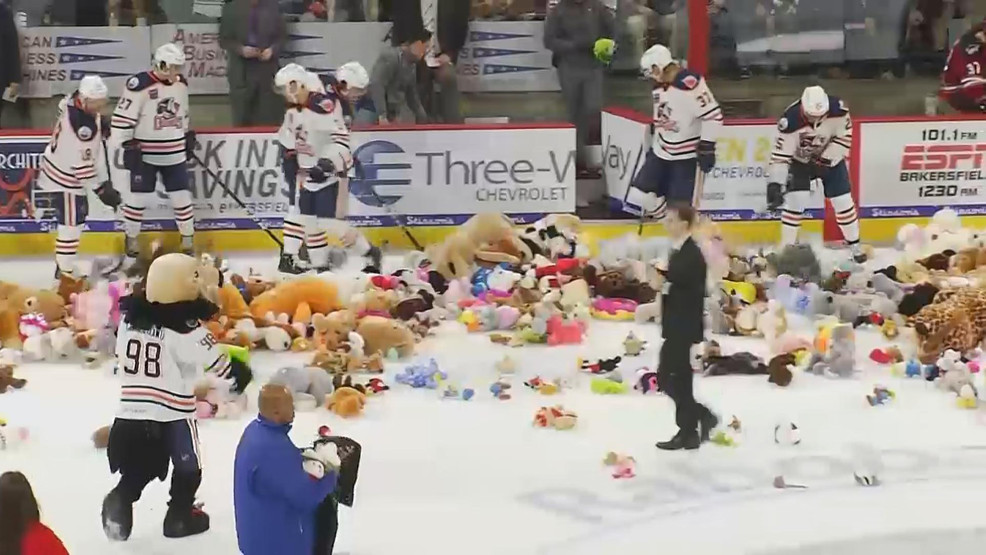 Teddy Bear Toss Condors (KBAK/KBFX photo)